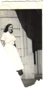 Photo of Sylvia Larson (later Matson) in nurse's uniform - circa 1955