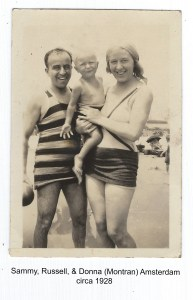 Sammy, Russell, & Donna at the Beach, circa 1928.