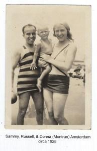 Sammy, Russell, & Donna at the Beach, circa 1928.