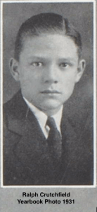 Yearbook photo of Ralph Crutchfield - Arkansas Russellville Russellville High School 1931