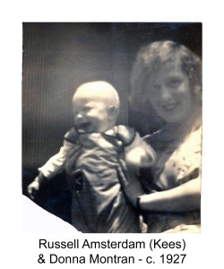 Photo of Russell Amsterdam (Kees) & Donna Montran c. 1927