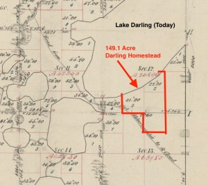 Map showing Darling Homestead
