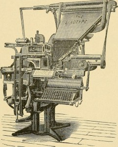 Image of a linotype machine.