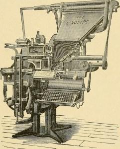 Image of a linotype machine.