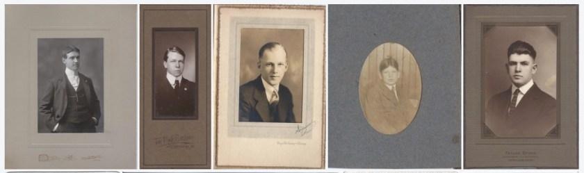 Photos of John Shaw, Ralph Marr Bragdon, Paul Brackett, Harold Bragdon (youth), & Harold Bragdon