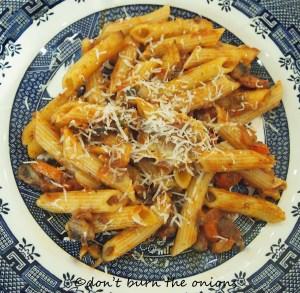 pork and chorizo pasta