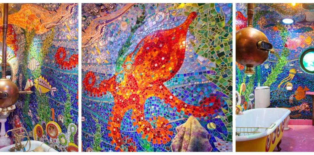 Gaudi Submarine Bathroom : A Mosaic Vision
