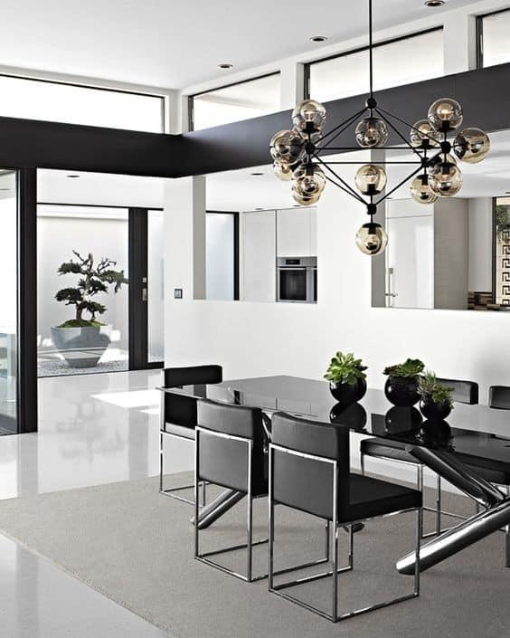 Living Room Lighting With Three Illuminating Tips