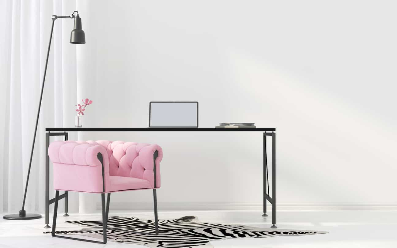 Feminine Inspired Workspaces for Hardworking Women