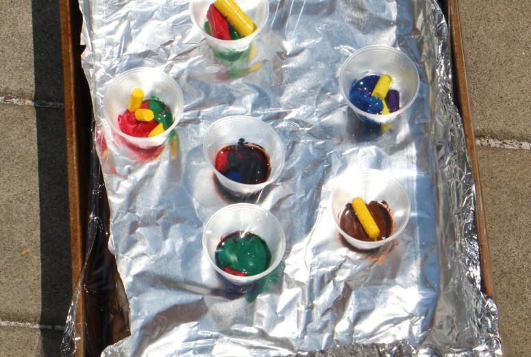 Recycled Sun-Shaped Crayons