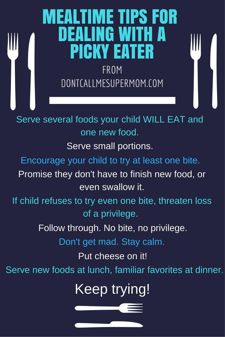 My mealtime tips for a picky eater
