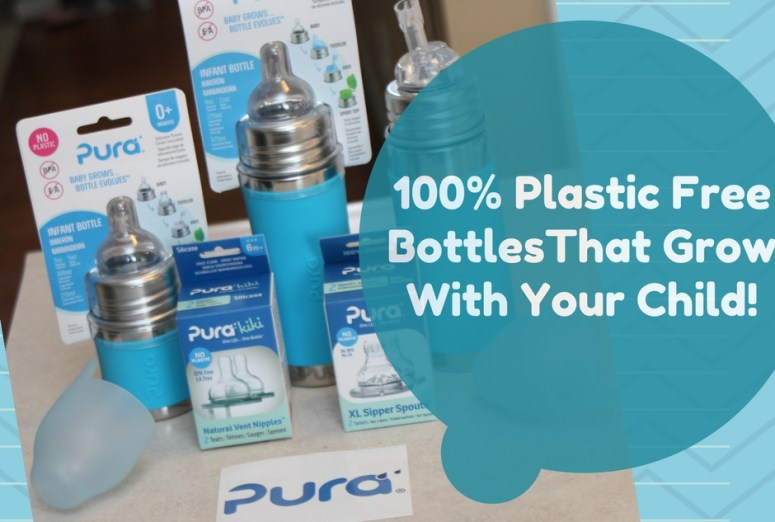 100% Plastic Free Bottles That Grow With Your Child!