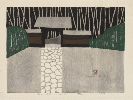 "Kiyoshi Saitō, ""Solitude, Kyoto"", 1948. Source: Clark Art Institute"