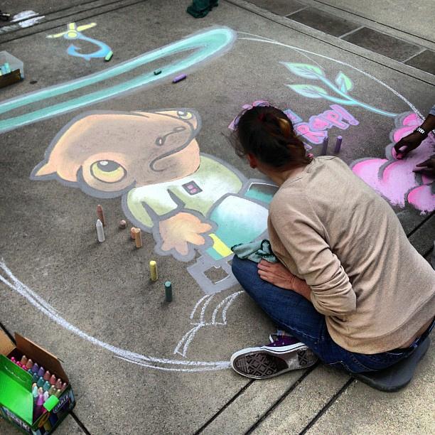 Star Wars Side Walk Art 2