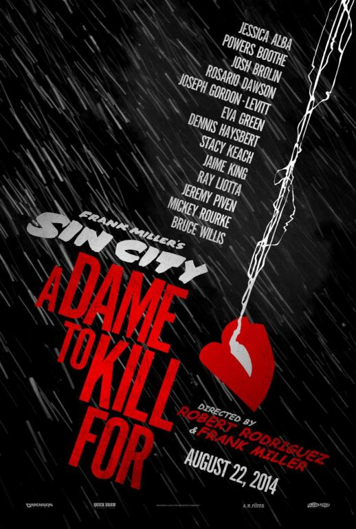 sin city a dame to kill for teaser poster