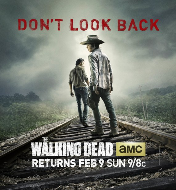 The Walking Dead Season 4 Carl and Rick poster