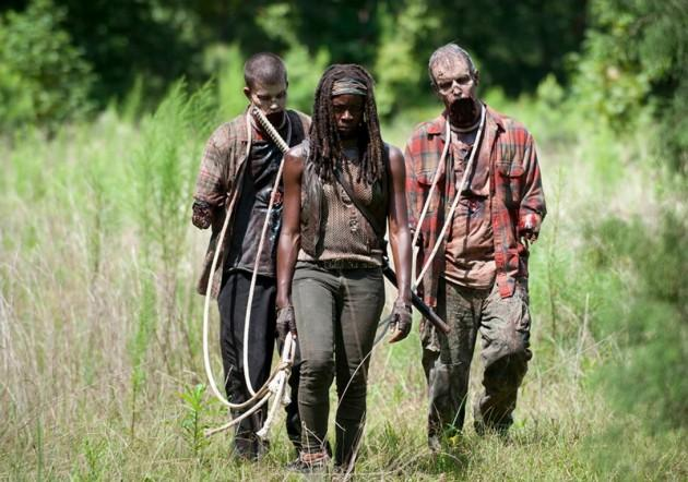 michonne and walkers season 4