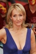 J.K. Rowling blue dress