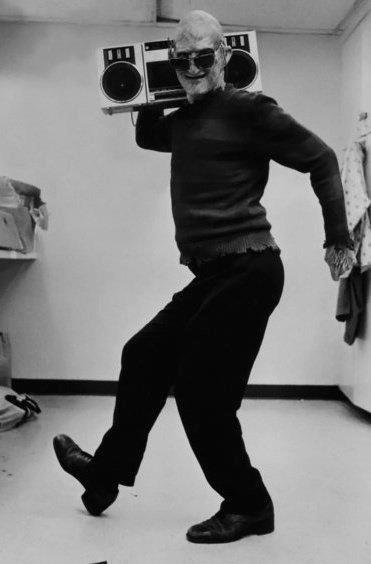 Freddy with a boombox