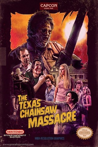 Blake Armstrong Texas Chainsaw NES cover