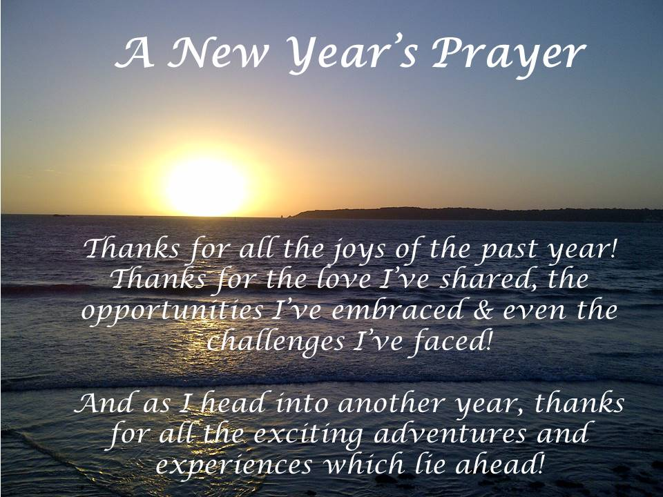 A New Year s Prayer   Don t forget to      Say Thanks  New Year Prayer of Thanks