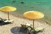 You can find an umbrella and sun lounge on any beach in the Peloponnese