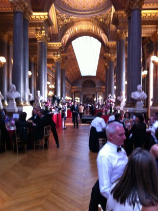 Formal dinner in the Hall of Battles in the Palace of Versailles