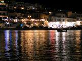 Illuminated Batsi on Andros Island