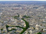 On top of the Eiffel Tower in Paris, France