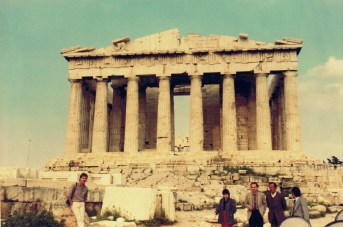 My first ever photo of the Parthenon when backpacking in 1985