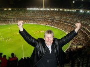 On top of the MCG in Melbourne, Australia