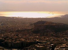 Athens from on top of Lykabettus Hill