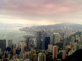 On top of Victoria Peak, Hong Kong