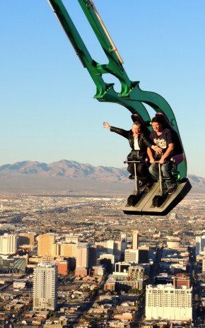 On top of Las Vegas on the Insanity ride