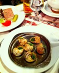 E is for escargot in Paris