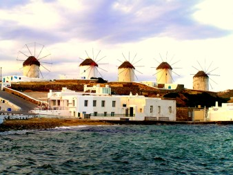 W is for the windmills of Mykonos