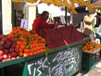 Fruit seller at Monastiraki Platia