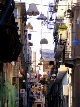 """Light Street"" in central Athens"