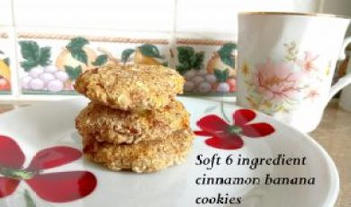 Super cheap & soft cinnamon banana cookies Desserts snack