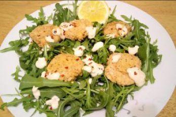 Lemon chilli & oat bean nuggets Dinner Lunch vegan