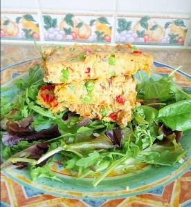 Chickpea veggie slices Dinner Lunch snack vegan
