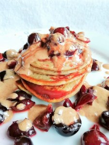 Grain free low carb bakewell protein pancakes Breakfast Grainfree Lunch