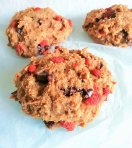 Spiced chocolate goji berry workout scones Breakfast Lunch vegan