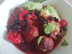 Veggie meatball bean casserole Dinner Grainfree Lunch vegan