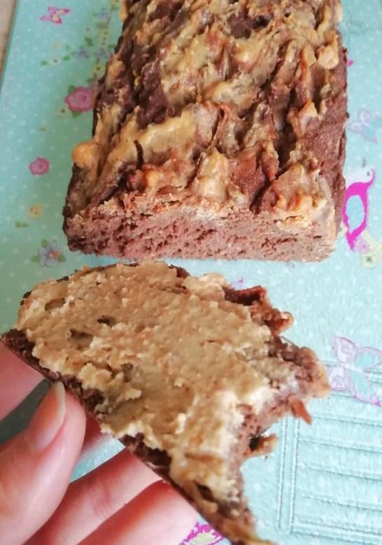 Peanut butter swirl chocolate breakfast bread Breakfast snack vegan