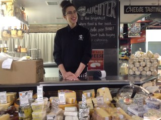 Cheese stall at Adelaide Central Market.