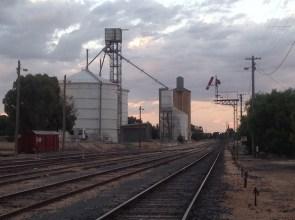 The railway line at Ouyen, Victoria. Photo Erle Levey
