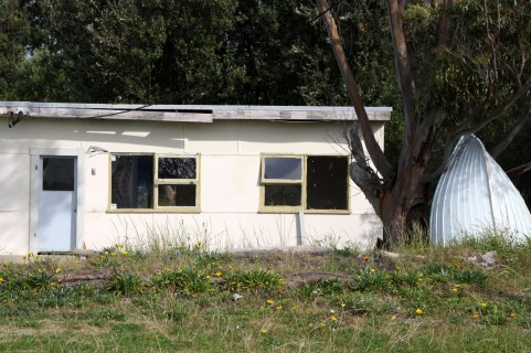 Fishing shack at Kurnell on the beachfront at Botany Bay.