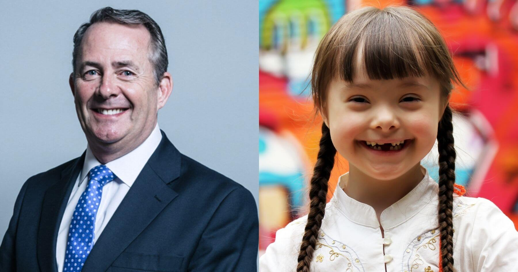 Press release - Dr Liam Fox MP introduces Down Syndrome Bill to improve life outcomes