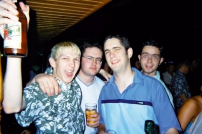 A night out in Majorca's Magaluf on a trip to Spain back in 2001 with the lads. The good old days!